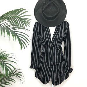 A New day linen blend stripe blazer. Boyfriend.